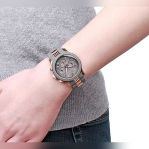Michael Kors Silicone Runway Rose Gold-tone Watch